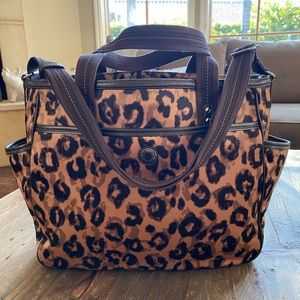 Coach Diaper Baby Bag Leopard Animal Print Brown